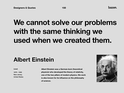 Quote - Albert Einstein albert einstein design tips design tip design thinking uxui ux uiux ui inspirational quote inspirational inspiration motivational quotes motivationalquote motivational design quote design quotes