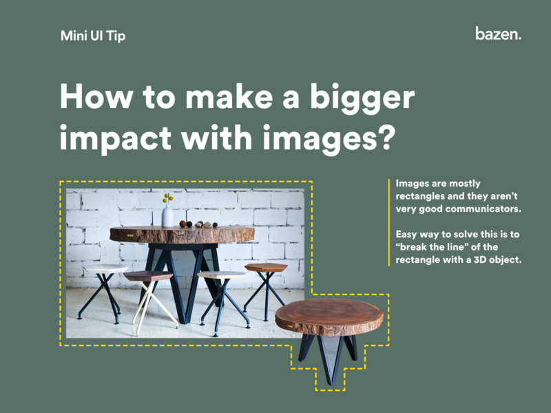 Mini Ui Tip - How to make a bigger impact with images designtips design tip layouts layout design layoutdesign graphic designer graphic  design graphic design graphicdesign userinterfacedesign userinterface uiux design tips ux ui