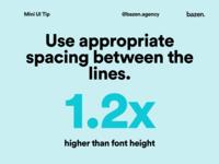 Mini UI Tip - Line spacing design thinking design principles uxui ux user experience designtips design tips design tip typographic typography poster typography design typography user interface design user interface ui user interface ui  ux uiux ui