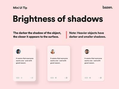 Mini UI Tip - How to use shadows to achieve depth uxui ux userexperiencedesign userinterfacedesigner userinterfacedesign depth of field depth userexperience userinterface uidesing uiuxdesign uiux uidesigner uidesign ui