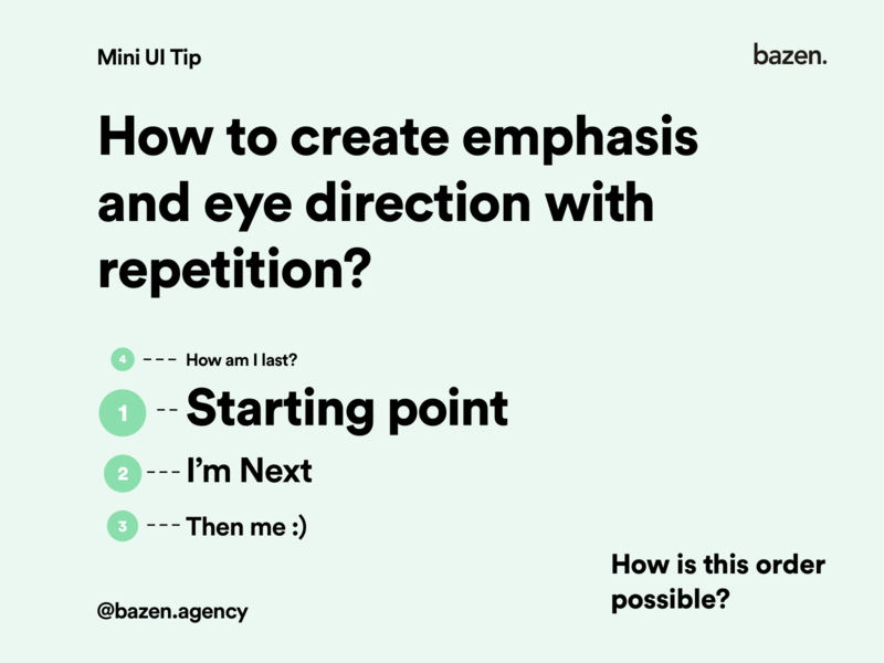 Mini UI Tip - How to create emphasis with repetition scale scaling typography design typography user interfaces user experience design user experience user interface flow design principles repetition ux uiuxdesigner uiuxdesign uidesigner uidesign uiux ui