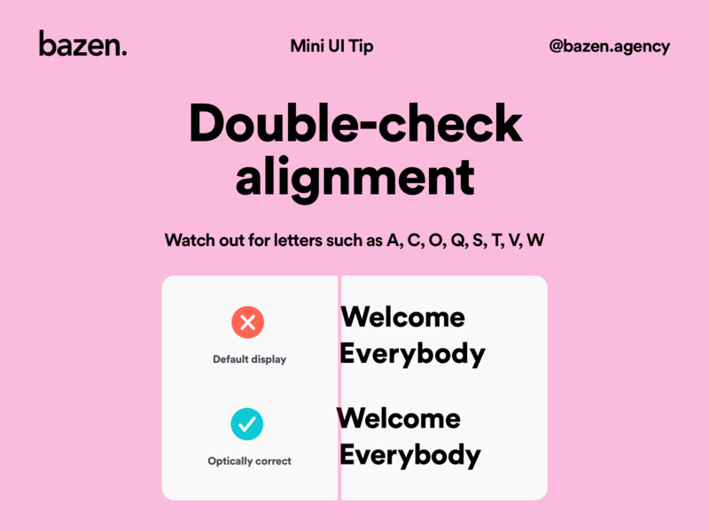 Mini UI Tip - Double check alignment designtips ux  ui uxui uidesign ui  ux typography poster typography design alignment typographic typo typography art typography design agency uiux ux design design tip ui design design tips ux ui