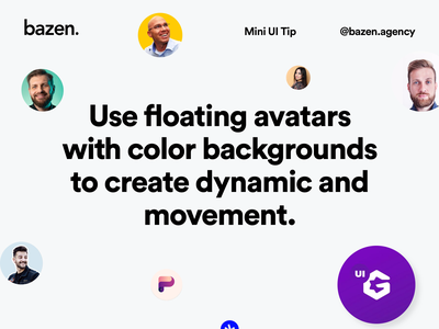 Mini UI Tip - How to use floating avatars user interface ui avatar design userexperience userinterface uxui uiux ux avatardesign avatars avatar icons avatar illustration ui illustration uidesigner uidesign ui