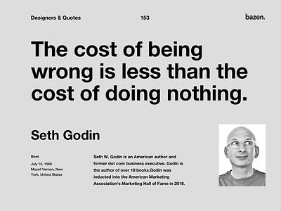 Quote - Seth Godin design tip design quotes motivational quotes ui design product design inspirational quote design tips quote design ux ui