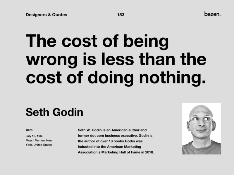 Quote - Seth Godin design tip design quotes motivational quotes ui design product design inspirational quote design tips quote design ux ui