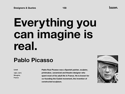 Quote - Pablo Picasso quote design motivational quotes design agency inspirational quotes inspirational quote motivationalquote designer creativity ux design uxdesign ux ui design uidesign uiux ui picasso pablo picasso design quotes design quote