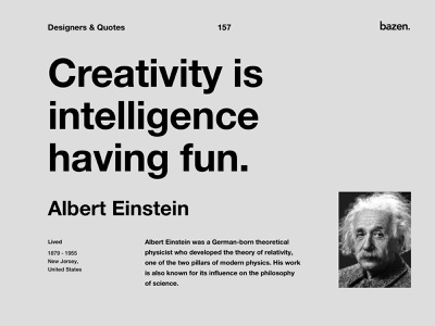 Quote - Albert Einstein design tip ux ui design design tips inspirational quotes inspirational quote motivational quotes motivationalquote uidesign uidesigner uiux ui quotes quoteoftheday quote design design quotes design quote