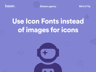 Mini UI Tip - Icon Fonts ui design bazen agency design tip design tips icon pack icon set icons design user interface design iconography iconset icon design icons pack icons typography fontello icomoon we love icon fonts genericons font awesome icon font