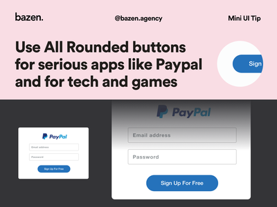 Mini UI Tip - All Rounded Buttons product design ui ui ux design tips ui design uidesign ui  ux design tip radius corners button corner button rounding button states button style button ui ui buttons button design button buttons