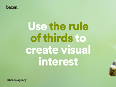 UI Tip - The rule of thirds design principles ux design ui design layout design composition composition graphic design design thinking uiux ux ui layout exploration layout design layoutdesign bazen agency design tips design tip rule of thirds