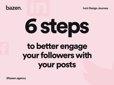 Junior UI Tip - How to engage your followers content marketing content strategy content design engagement design community ux design tip ui design ui design tips social profile bazen agency junior designer junior design agency marketing agency socialmedia social media design social media