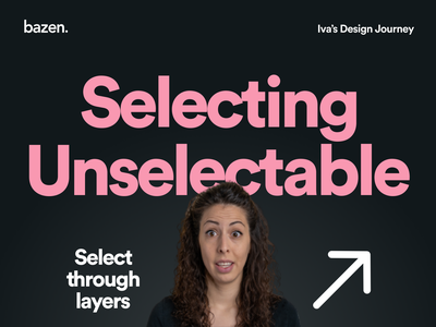 Junior UI tip - Selecting Unselectable layers design thinking junior designer bazen agency design agency ux design ui design design tips design tip ux ui sketchapp sketch