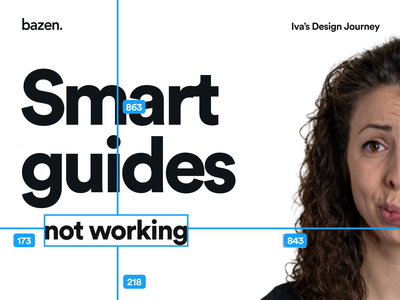 Junior UI Tip - Smart guides not working layers ui design ux junior designer ui bazen agency design tips design tip figma tutorial figma design figmadesign figma junior