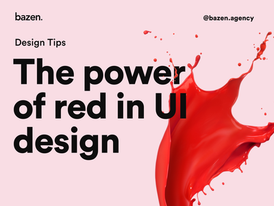 UI Tip - The power of red in UI ui design color scheme design tips design tip branding design brand design web design bazen agency visual design ui colors color palette color ui red ui red color red uidesign uiux dailyuichallenge daily ui dailyui