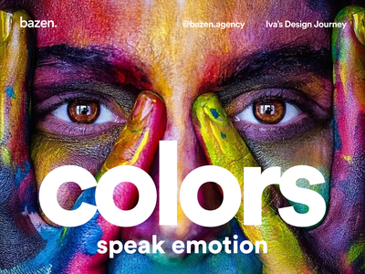 UX/UI Tip - Colors speak emotion uxdesign uidesign design agency web design visual design graphic design color scheme colors color bazen agency design tip ui  ux color psychology colorscheme color ui uiux ux ux design ui design ui