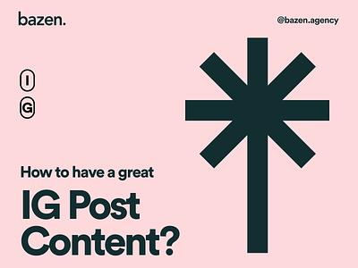 Design Tip - IG Post Content designtip content design layout design user interface instagram post instagram graphic design bazen agency illustration design uiux ui design design tip ux design tips ui