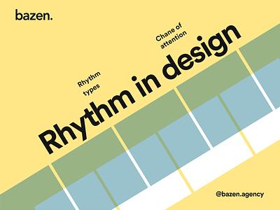 Design Tip - Rhythm in design graphic design design thiking design principles user interface rhythm uiux ui design design tip ux design tips ui