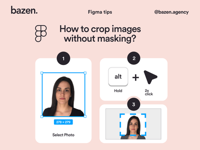 Figma Tip - How to crop images figma shortcut shortcut design daily user experience user interface figma tutorial image layout crop image images figma tip figma bazen agency design uiux ui design design tip ux design tips ui