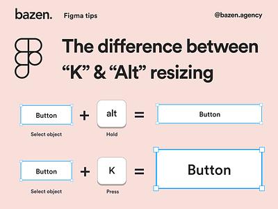 "Design Tip - The difference between ""K"" & ""Alt"" resizing dailyui design process daily tip design principles bazen agency typography shapes branding graphic design webdesign design uiux ui design design tip ux design tips ui"