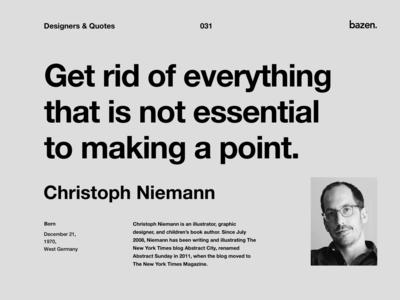 Quote - Christoph Niemann
