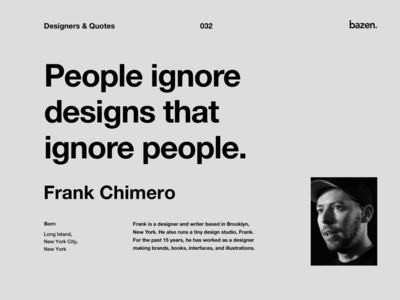 Quote - Frank Chimero