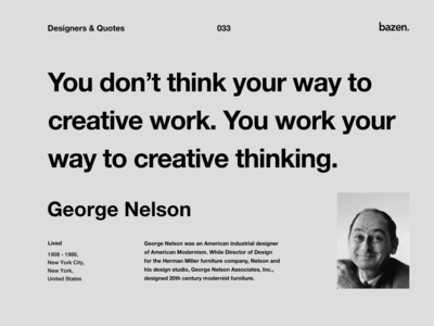 Quote - George Nelson