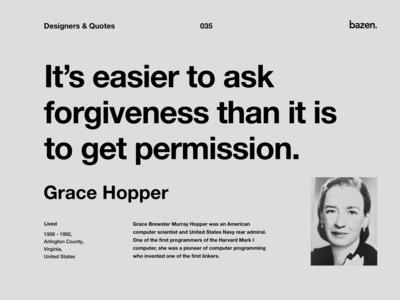 Quote - Grace Hopper