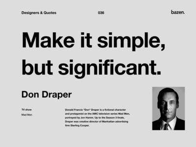 Quote - Don Draper