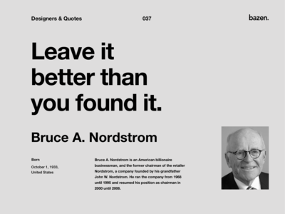 Quote - Bruce A. Nordstrom