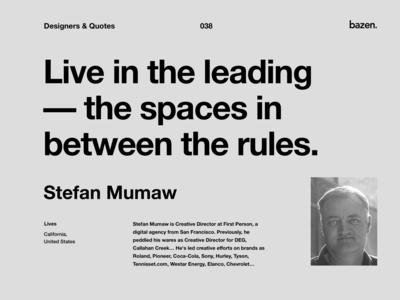 Quote - Stefan Mumaw