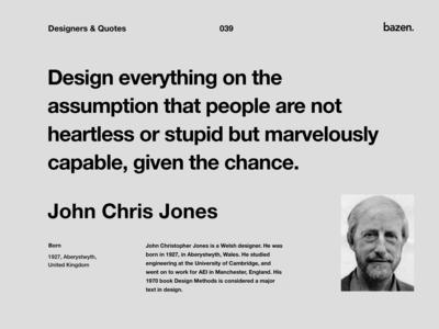 Quote - John Chris Jones