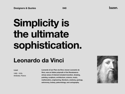 Quote - Leonardo da Vinci