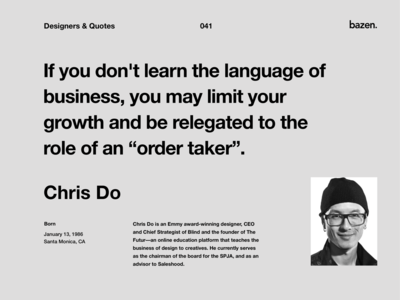 Quote - Chris Do