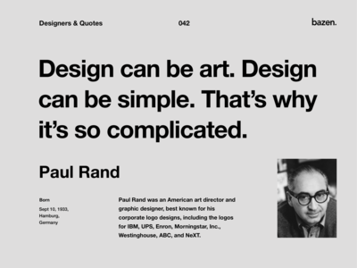 Quote - Paul Rand