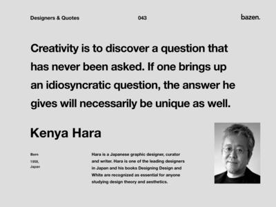 Quote - Kenya Hara