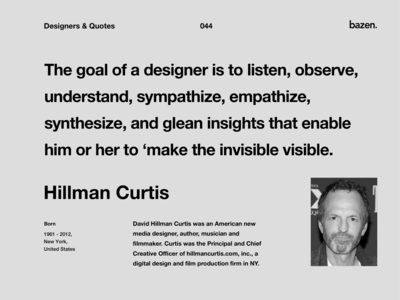 Quote - Hillman Curtis