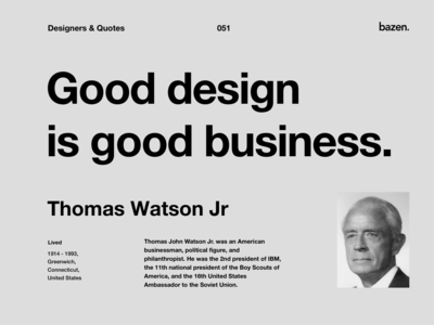 Quote - Thomas Watson Jr