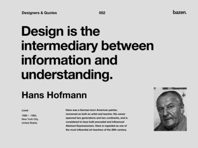 Quote - Hans Hofmann