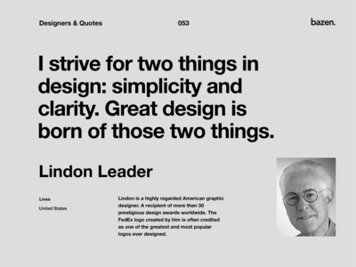 Quote - Lindon Leader