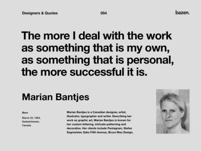 Quote - Marian Bantjes