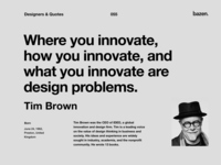 Quote - Tim Brown