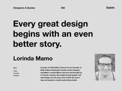 Quote - Lorinda Mamo