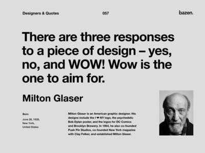 Quote - Milton Glaser