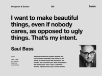 Quote - Saul Bass