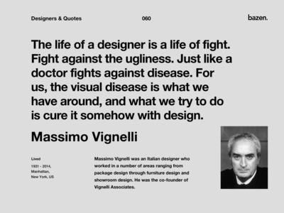 Quote - Massimo Vignelli