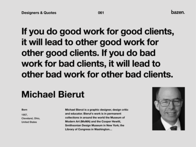 Quote - Michael Bierut