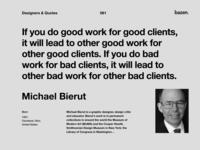 Quote - Michael Bierut