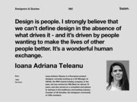 Quote - Ioana Adriana Teleanu