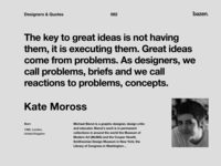 Quote - Kate Moross