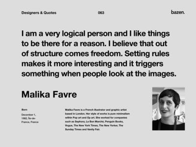 Quote - Malika Favre